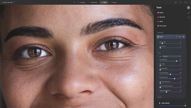 Luminar AI portraits bearbeiten