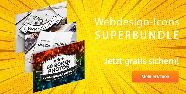 Webdesign-Icons Superbundle gratis