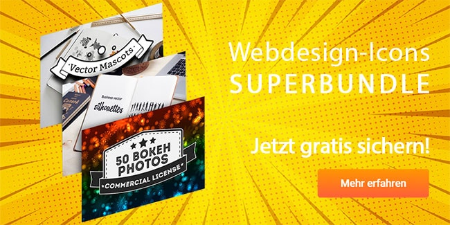 Webdesign-Icons Superbundle gratis