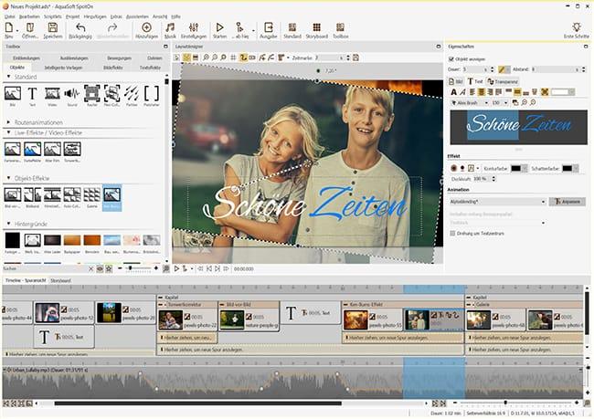 Aquasoft SpotOn 11: Videobearbeitung kostenlose Vollversion