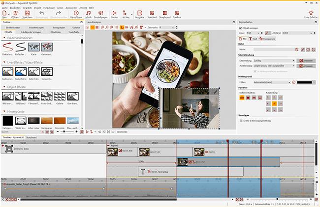 Aquasoft SpotOn 11: Videobearbeitung software kostenlos