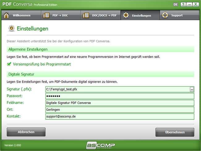 ASCOMP PDF Conversa kostenlos gewinnen