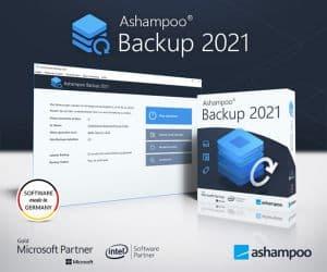 Ashampoo® Backup 2021 jetzt kostenlos sichern