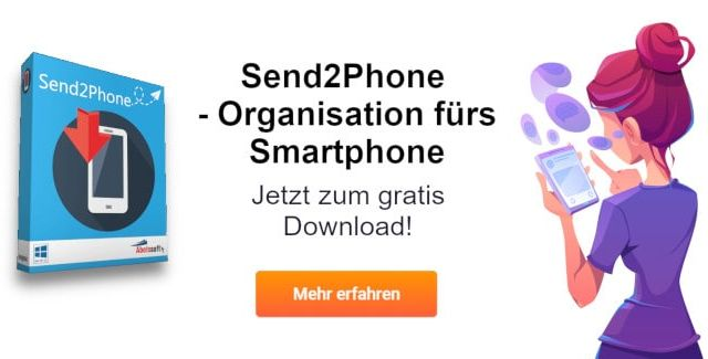 Send2Phone - Das Organisationstalent fürs Smartphone gratis runterladen