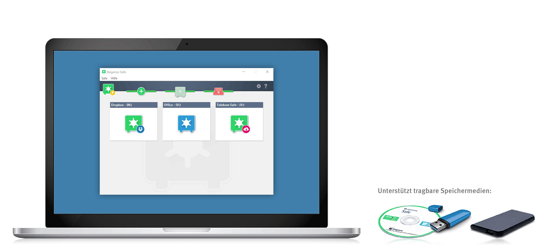 Schützen Sie Ihre Daten mit der kostenlosen Vollversion von Steganos Safe 21