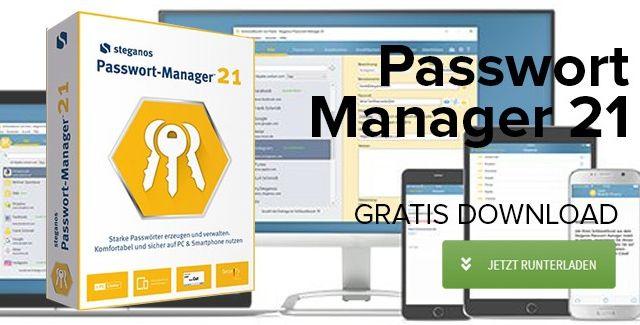 Steganos Passwort Manager 21 gratis runterladen