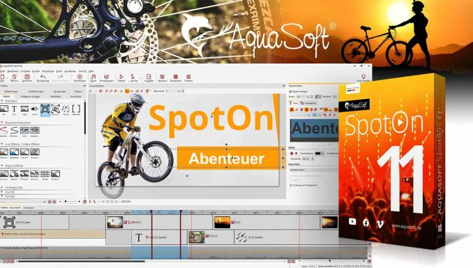 Aquasoft SpotOn 11: Videos für Social Media erstellen. Gratis software