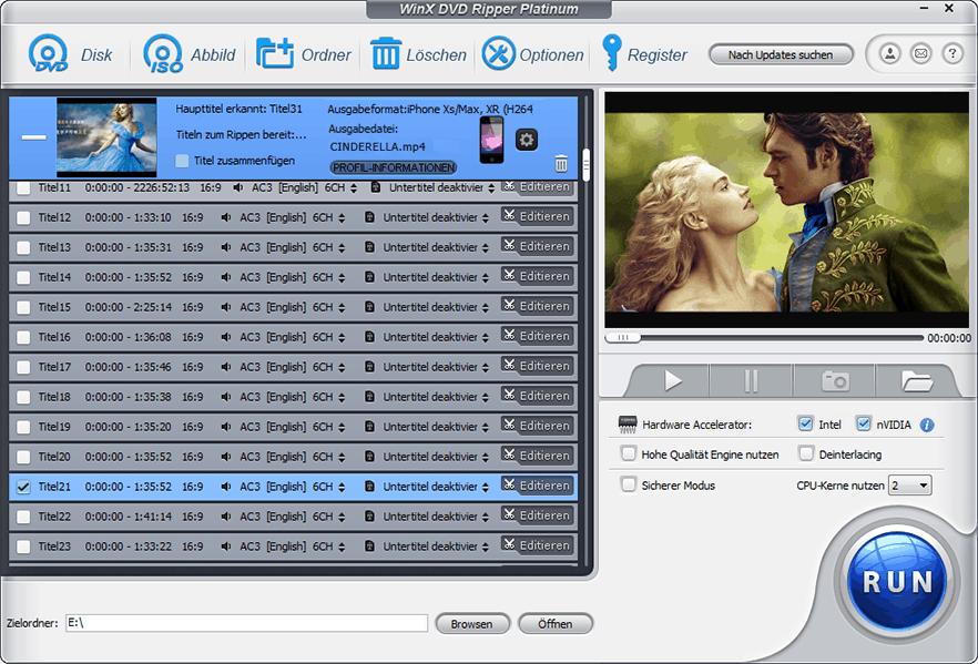 WinX DVD Ripper Platinum lebenslang gratis